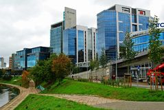 Vilnius city center new offices and houses Royalty Free Stock Photo