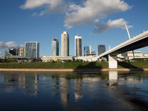 The Vilnius city center view with skyscrapers Stock Photography