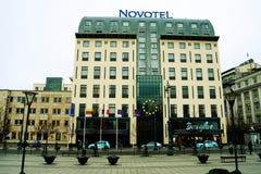 Vilnius city centre at autumn time on November 14, 2014 Royalty Free Stock Photo