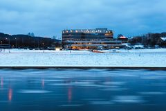 Free Vilnius City Forum Palace At Winter Time Royalty Free Stock Photos - 48355358