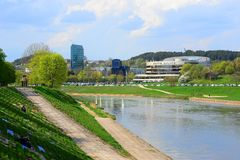 Vilnius city Forum Palace at spring time Royalty Free Stock Image