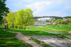 Vilnius city Forum Palace at spring time Royalty Free Stock Photo