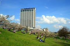 Vilnius city hotel Radisson Blu on April 28, 2015 Royalty Free Stock Photos