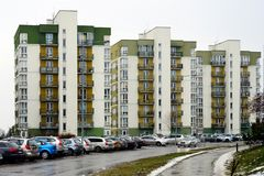 Vilnius city houses in Zirmunai district Nord city Royalty Free Stock Photo