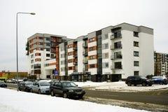 Vilnius city houses in Zirmunai district Nord city Stock Photo