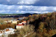Vilnius city landscape. Vilnius, Lithuania travel enjoying nice city landscapes and architecture details royalty free stock photography