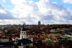 Vilnius city landscape. Vilnius, Lithuania travel enjoying nice city landscapes and architecture details stock photos