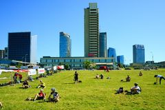 Vilnius city new skyscrapers view on June 6, 2015 Royalty Free Stock Images