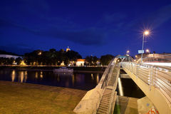 Vilnius city at night Royalty Free Stock Photography
