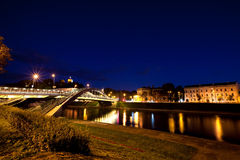 Vilnius city at night Stock Photo