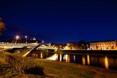 Vilnius city at night Stock Photo