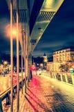 Vilnius city at night royalty free stock photography