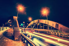Vilnius city at night stock photography