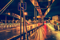 Vilnius city at night Royalty Free Stock Images