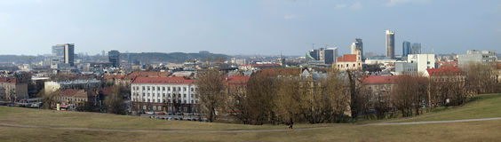 The Vilnius city panorama. View from Tauras hill to the city Royalty Free Stock Image