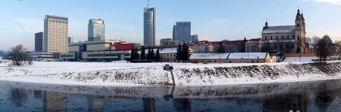Vilnius city panorama. Royalty Free Stock Image