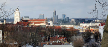 Vilnius city panorama Royalty Free Stock Photos