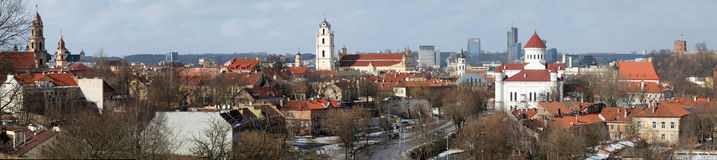 Vilnius city panorama Royalty Free Stock Photo