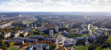 The Vilnius city panorama. Schots from Vilnius tv tower. Sud direction Stock Photography