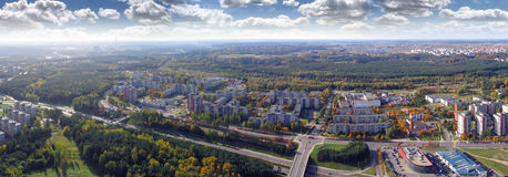 Vilnius city panorama. Schots from Vilnius tv tower. Sud- West direction Stock Photo