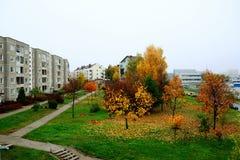 Vilnius city Pasilaiciai district at autumn time Stock Photography