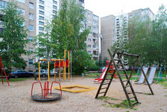 Vilnius city Pasilaiciai district houses environment Royalty Free Stock Image