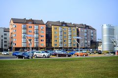 Vilnius city Pasilaiciai district residential houses in Baltrusaicio street Royalty Free Stock Photography