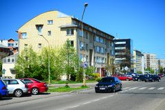 Vilnius city Pasilaiciai district residential houses in Baltrusaicio street Royalty Free Stock Images