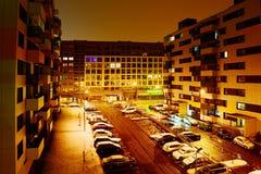 Vilnius city Pasilaiciai district view at night Stock Photo