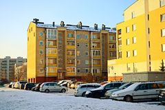 Vilnius city Pasilaiciai district at winter time Royalty Free Stock Photos