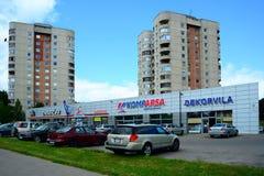 Vilnius city residential houses in Ateities street Royalty Free Stock Image