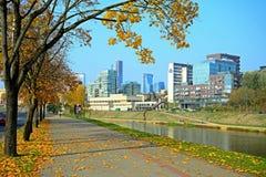 Vilnius city with river Neris autumn view Stock Photography