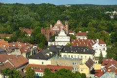 Vilnius city scape royalty free stock photo