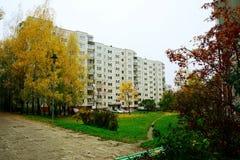 Vilnius city Seskine district at autumn time Royalty Free Stock Image
