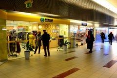 Vilnius city Seskine district Humana shop on October 24, 2014 Stock Photo