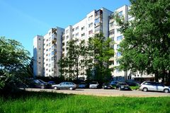Vilnius city Seskine district view on spring time Royalty Free Stock Photography