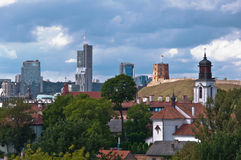 Vilnius City Skyline Royalty Free Stock Photography