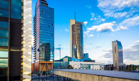 Vilnius city skyline. Vilnius city view with skyscrapers, Europa city Royalty Free Stock Photo