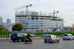 Vilnius city skyscraper construction in city center Stock Photos