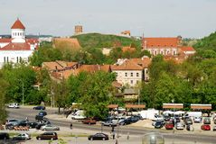 Vilnius city street life in spring time Royalty Free Stock Photography
