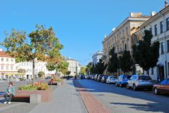 Vilnius city town hall place on September 24, 2014 Royalty Free Stock Image