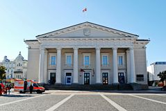 Vilnius city town hall place on September 24, 2014 Stock Images
