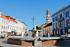 Vilnius city town hall place on September 24, 2014 Royalty Free Stock Photo