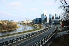 Vilnius city transport in the Gelezinis Vilkas street Stock Photography
