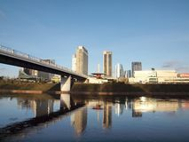 Vilnius city view. Late autumn in the lithuanian capital Vilnius Royalty Free Stock Photos