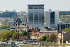 Vilnius city view from Gediminas castle. Lithuania royalty free stock photo