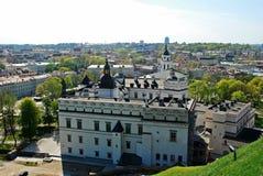 Vilnius city view from Gediminas castle. Royalty Free Stock Photos