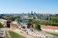 Vilnius city view from Gediminas castle Stock Images