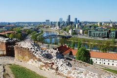 Vilnius city view from Gediminas castle Royalty Free Stock Photography