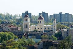 Vilnius city view from Gediminas castle. Royalty Free Stock Photo